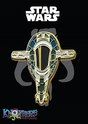 Star Wars Mandalorian Exclusive Pin - Jango Fett Slave I Ship Gold Trim (Celebration 2019)